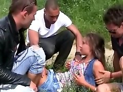 Hawt Czech Hotty and Trio Mates double penetration Outdoors