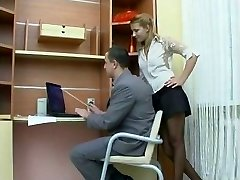 Intercourse in the office with Russian gal