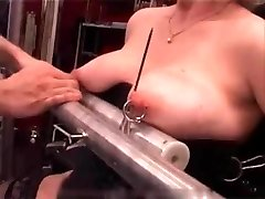 My Wondrous  Piercings - heavy pierced slave tormented with candle