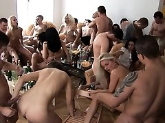 Big Cupcakes Blonde Cum Covered at Home Party