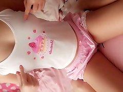 super cute skolas teen patīk webcam viņas rozā kūka maksts u