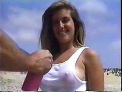 ग्लैमर गोली मार समुद्र तट पर (विंटेज)