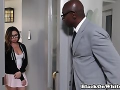 BBC luving schoolgirl doggystyled by dilf