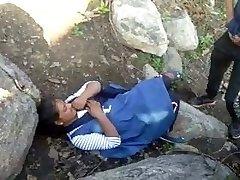 Caught Village Paki Couples Outdoor Romping
