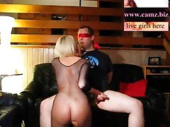 Blind, bound and helpless fucked by girl