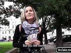 Czech slut Blanka Grain sex in public