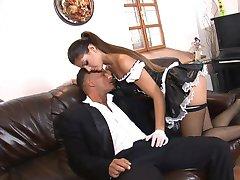 Smoking Hot Euro Maid sucks Dick and Eats Pussy