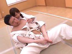 Karate footjob