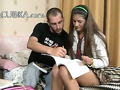 Russian couple fuck after school