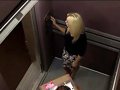 Blonde MILF In An Elevator