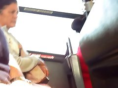 dick flash older lady on the bus