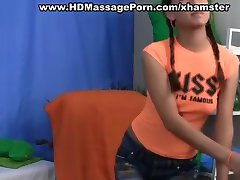 Teen fuck massage with hot squirt