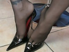 german Very Hot  Pov Stockings Footjob
