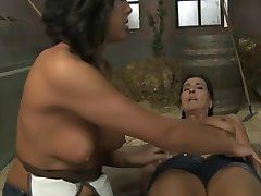 Teen Strap-on in stables