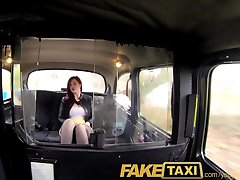 FakeTaxi Knickerless slut agrees to backseat sex