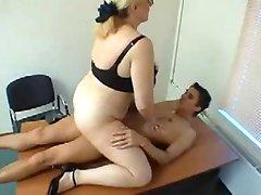 Mature Huge Tits teacher Seduces Her Teen Student