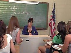 Lesbian Orgy With The Teacher