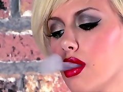 Tattooed Teen Smoking Wanks