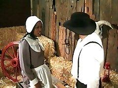 Amish-farmer annalizes eine schwarze maid