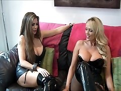 domina and friend use slave