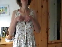 Bashful Wife strips and plays