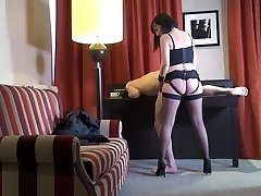 Svelte French nymphomaniac Mya Lorenn rides her submissive boy's dick