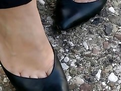 shoeplay in old-school heels compilation