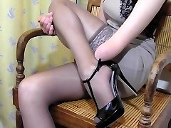 Arm Amputee putting on Pantyhose