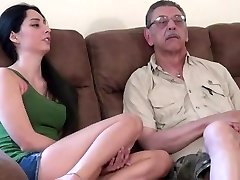 young chick first time fucking with elderly stud