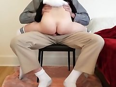 Youthful schoolgirl learns deep lesson while getting tutored at home.