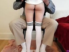 Young college girl learns deep lesson while getting tutored at home.