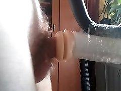 Boy fucks rubber vagina