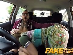 Faux Driving School Learners post lesson horny orgasm fuck session