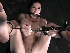 pThe first scene begins with exotic Akira affixed to a single column with pipe, arms above her...