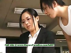 Sora Aoi innocent naughty asian secretary enjoys getting fucked at break time