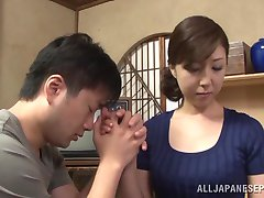 Hot mature Asian housewife enjoys getting position 69