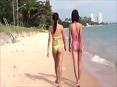 Sexy  Young Thai girls in thong bikini