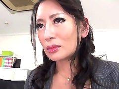 Najhorúcejšie Japonská dievča Rei Kitajima v Crazy pančuchy, fajčenie JAVA-klip