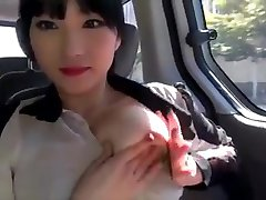 Korean couple sex in car