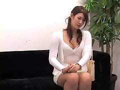 Adorable Jap rides a ramrod in hidden cam interview video
