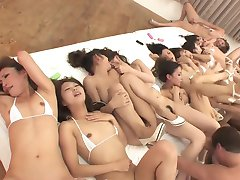Japanese cute ten young girls