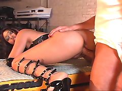Mika Tan screwing dick in garage