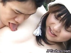 Japanese flasher gets some hard core sex