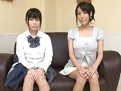Oil Massage Daughter and Mama-three