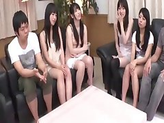 Uncensored Japanese shaving session before orgy