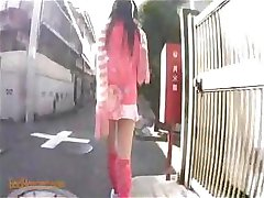 Japanese schoolgirl goes over to a friends to get a mouthful