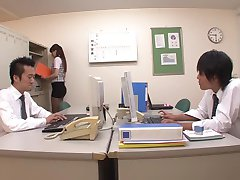 Best Japanese model Yui Oba in Hottest secretary, foot job JAV movie