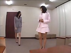 Asian secretary pantyhose