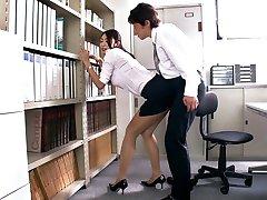 Horny Japonský coura Reiko Kobayakawa v Exotických JAVA-cenzurované Fetiš, Veľké Prsia scény