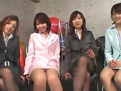5 Japonské dievčatá dať footjob